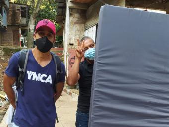 YMCA Cali acompaña a familias afectadas por lluvias en Siloé